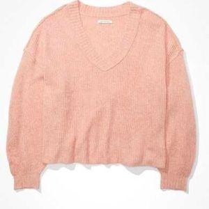 ⚪️AEO Blush Pink Light Knit Sweater